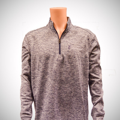 PosiCharge Heather Quarter Zip Mens Pullover