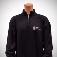Quarter Zip Cadet Collar Sweatshirt